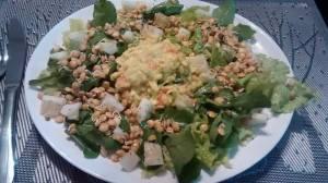 salada com lentilha germinada